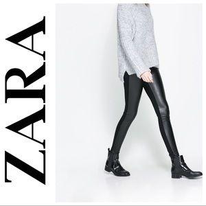⬇️$24 Zara Black Faux Leather Skinny Legging Pants
